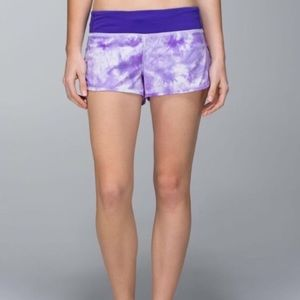 Lululemon Purple Tie-Dye Speed Shorts - Size 2